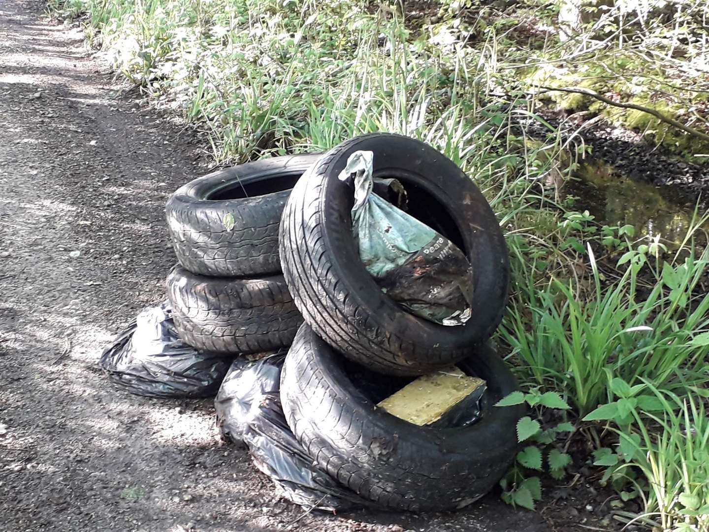There have been reports of fly-tipping at the woods too