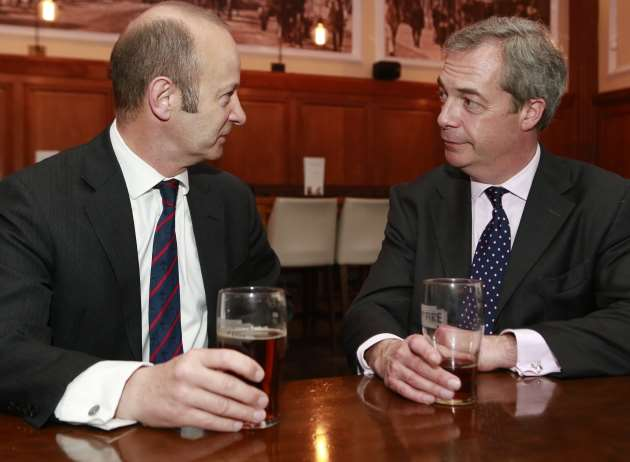 Henry Bolton and Nigel Farage