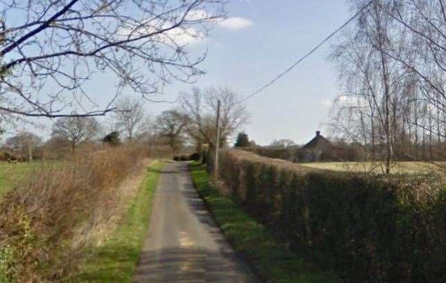 Crumps Lane: where the cyclist first encountered the yobs