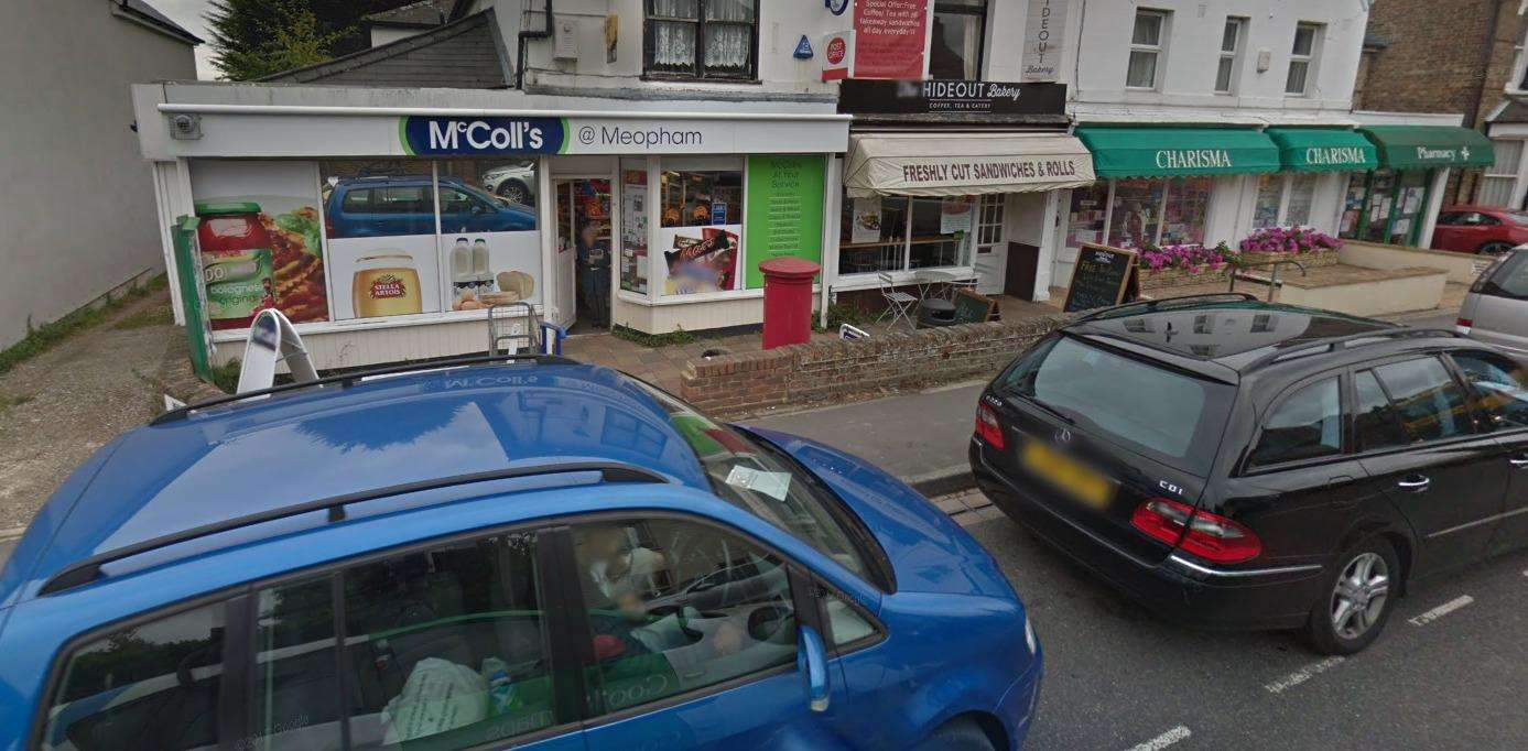 The pair were robbed outside McColls newsagent and post office. Picture: Google Street View