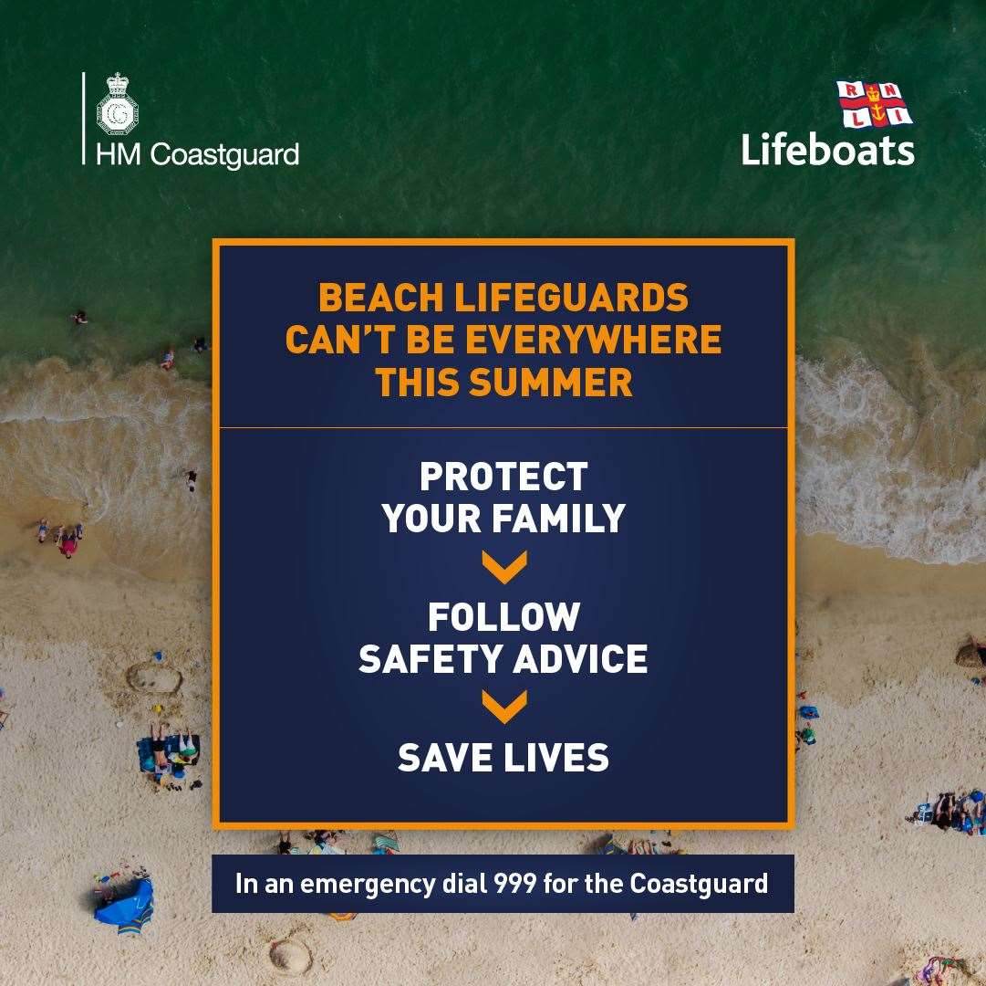 The beach safety campaign from the RNLI and Coastguard (35035387)