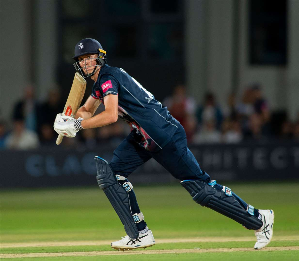 Zak Crawley on the way to his half century against Surrey. Picture:Ady Kerry