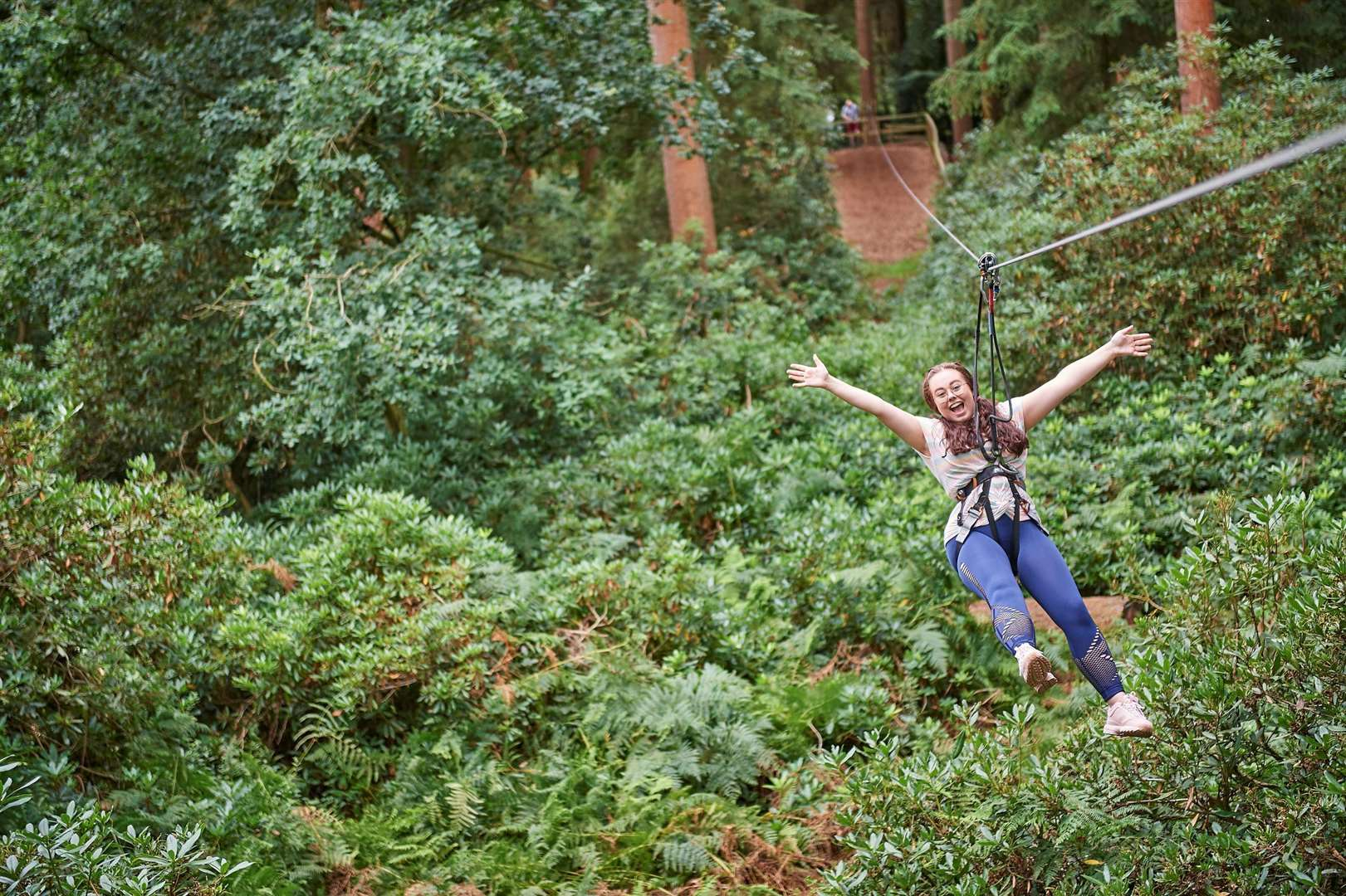 Go Ape at Leeds Castle has a 250m zip wire