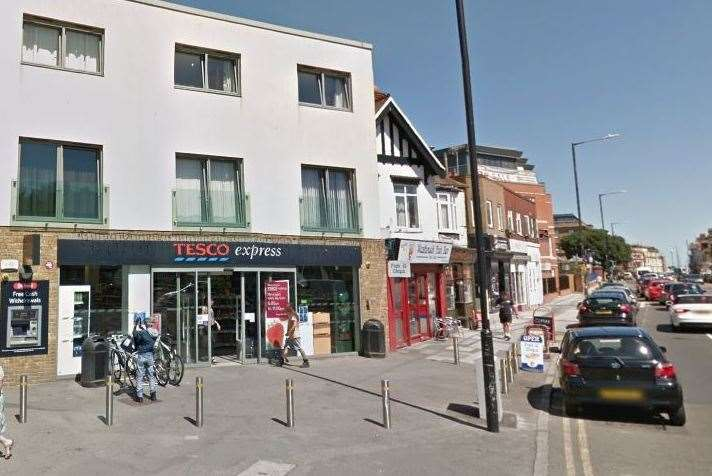 The fire happened at Tesco Express. Picture: Google Street View (7763412)