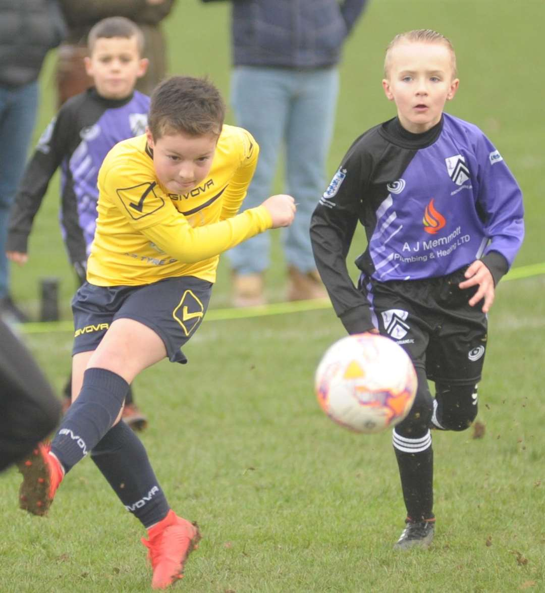 Sheerness East Youth under-9s on the attack against Anchorians Jaguars Picture: Steve Crispe