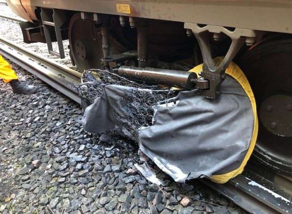 A mattress on the tracks halted services from Gravesend to Dartford
