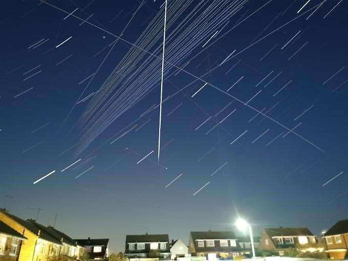 Amateur astronomer Tim Burgess captured busy night time sky in 2020