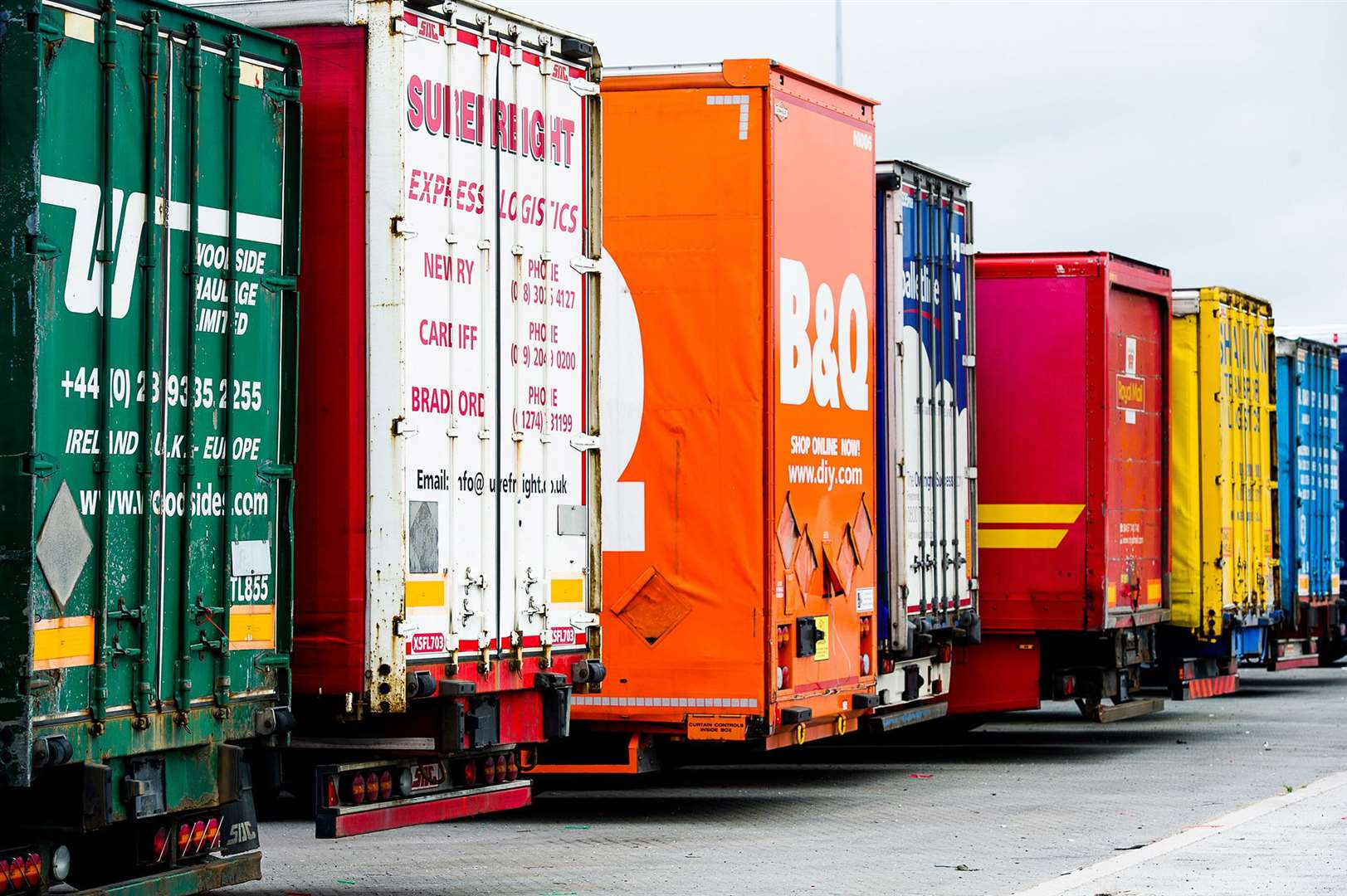 Between 1,300 and 1,500 lorries will be held on the site. Picture: Ant Clausen, Peel Ports