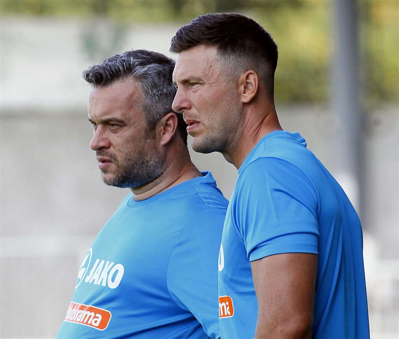 Dartford joint-managers Jamie Coyle and Adam Flanagan. Picture: Sean Aidan FM16084797