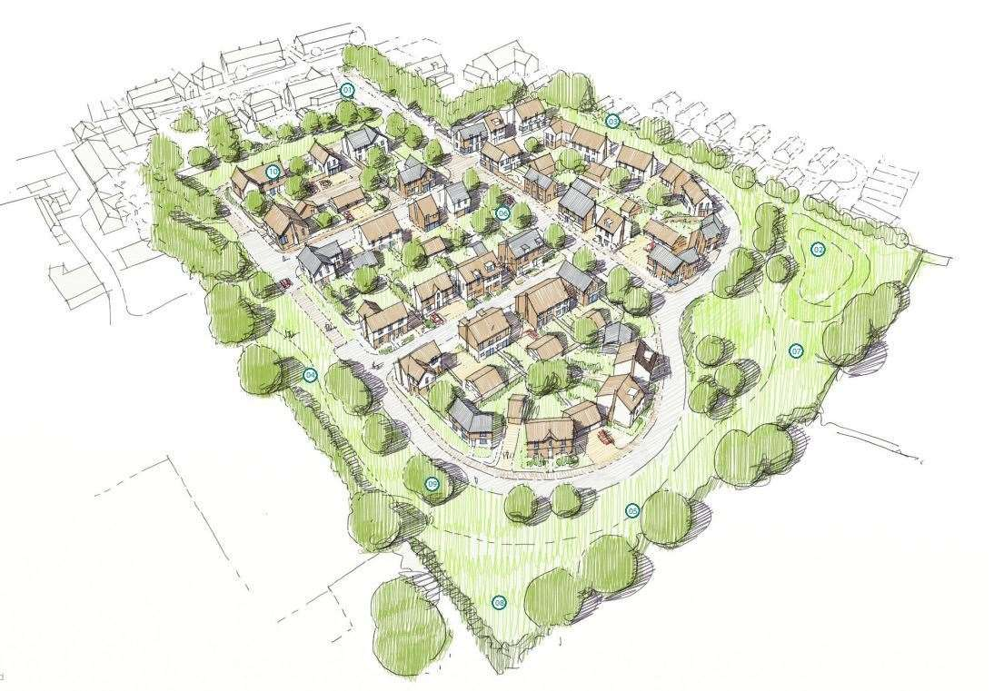 Designs for a new 49-home development in Monkton. Pictures: Heyhill Land/Savills