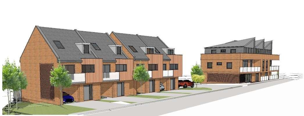A sketch of how the development might look if built. Picture: Hume Planning/Kentish Projects Ltd