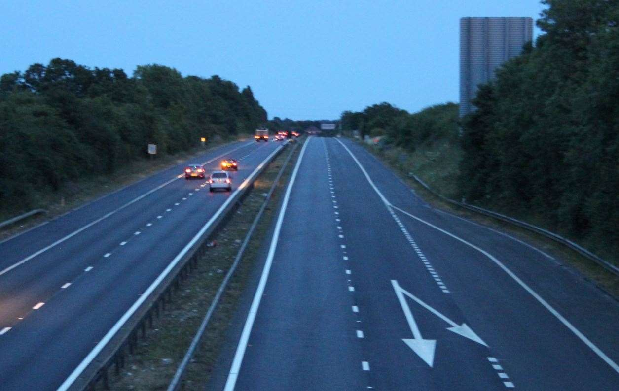 Part of the M2 is to close overnight for about three weeks. Stock picture