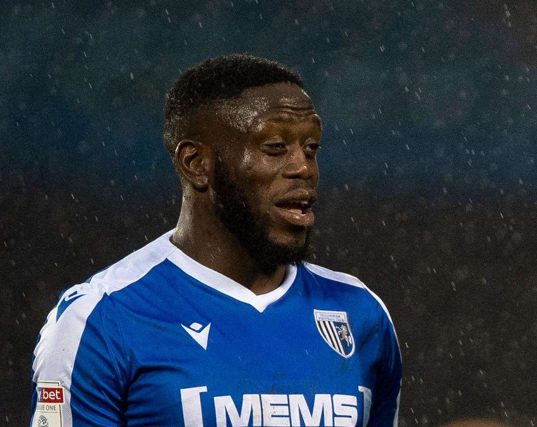 Gillingham striker John Akinde scored his fourth of the season on Saturday
