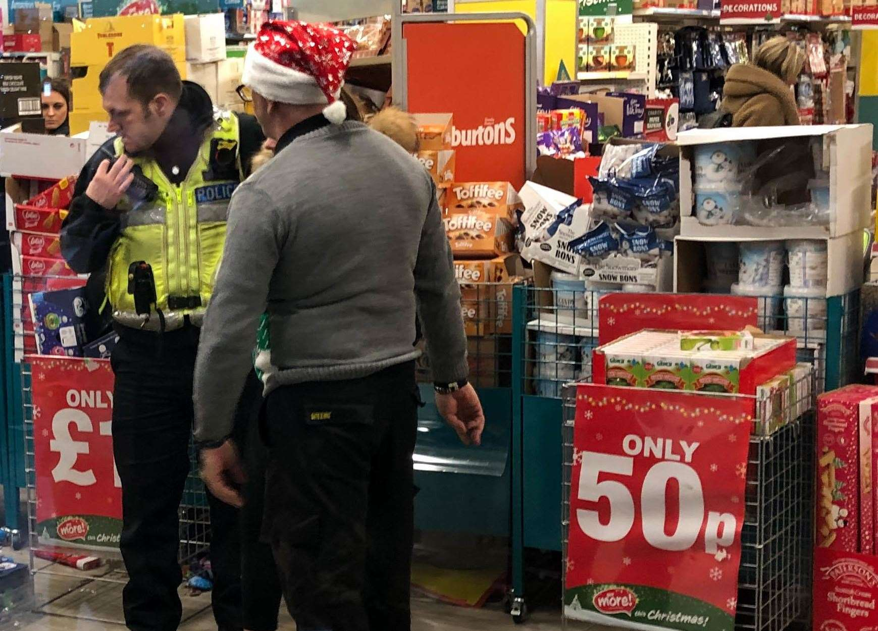 The store is said to have been placed in lockdown this afternoon. Picture: Uknip
