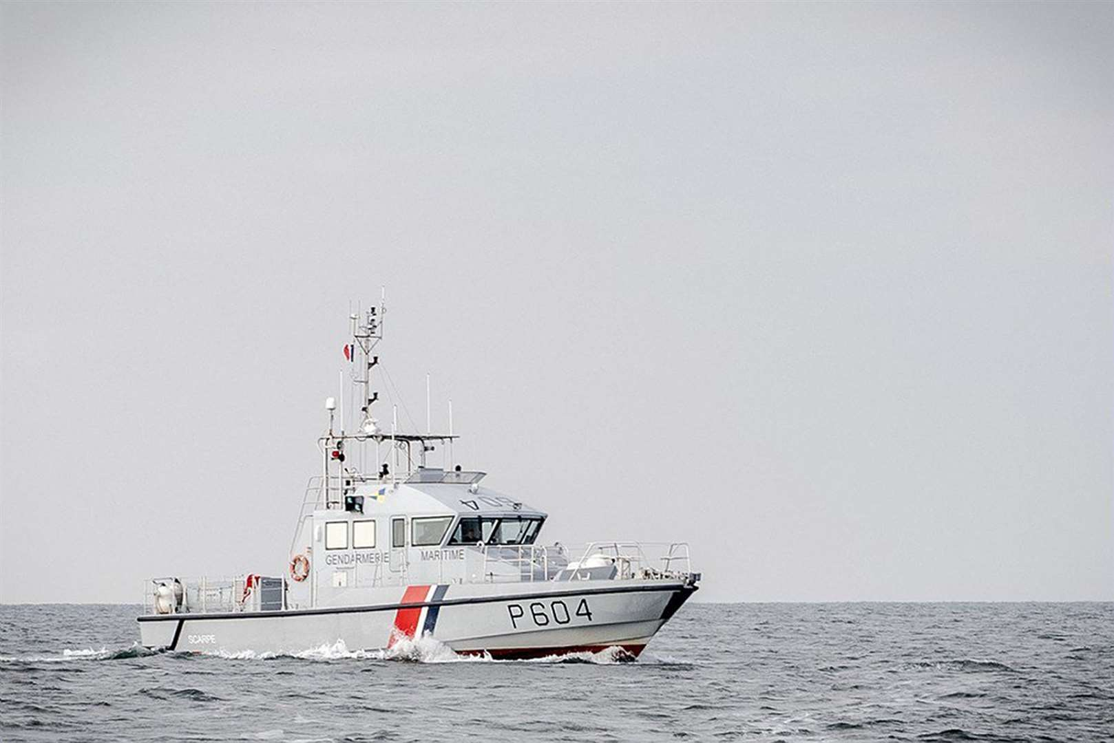 A French patrol boat as migrants were picked up by French authorities in the English Channel (Marine Nationale)