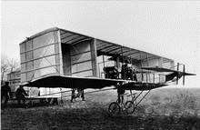 John Moore-Brabazon starts the first flight in Britain by a British aviator, on Shellbeach, May 2, 1909