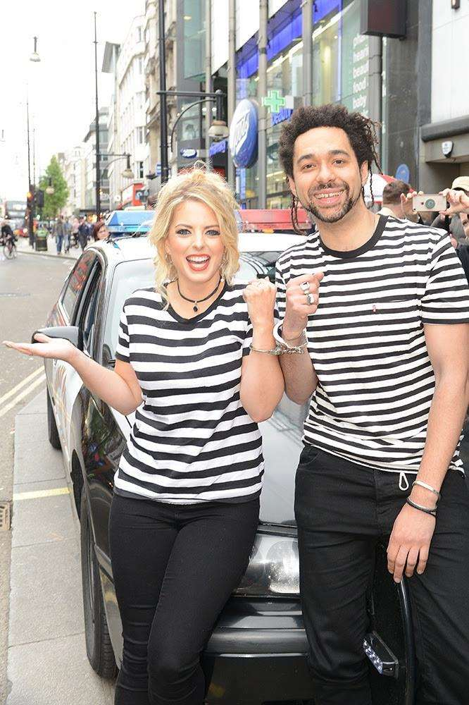 The Shires arrive in London handcuffed to one another