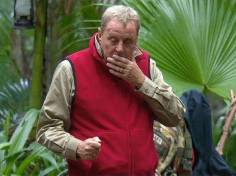 Harry Redknapp in the jungle. Picture: ITV