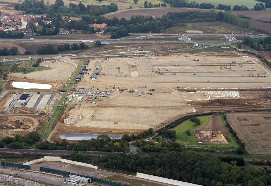 The vast Sevington MOJO site was initially set to be an industrial estate. Picture: Ady Kerry / Ashford Borough Council