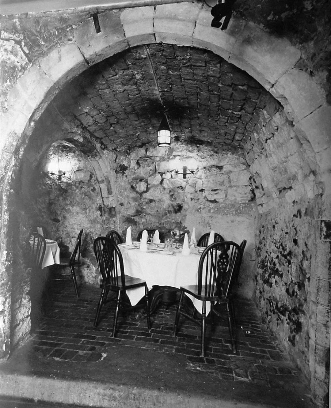 The Crypt restaurant in Bench Street in the 1960s