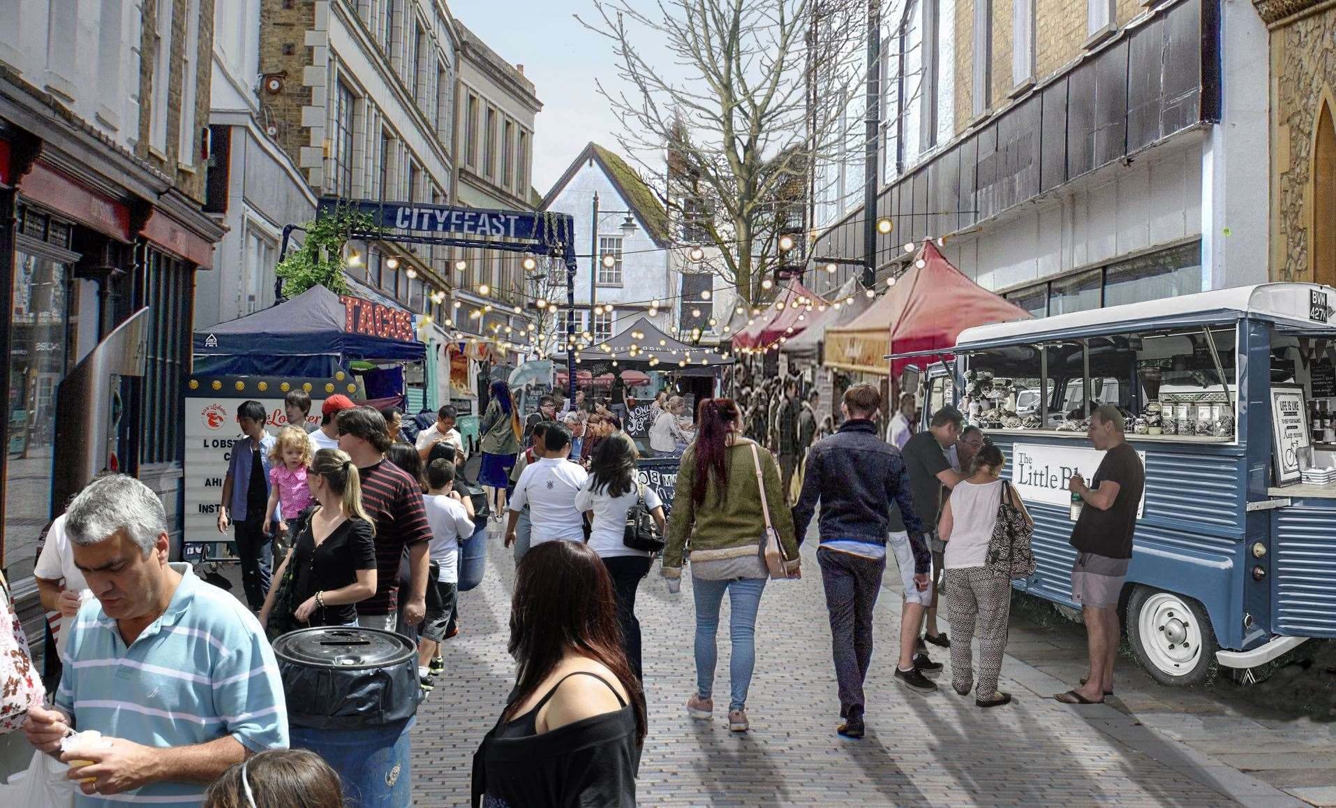 Hungry customers will be able to browse Guildhall Street and choose their favoured trader