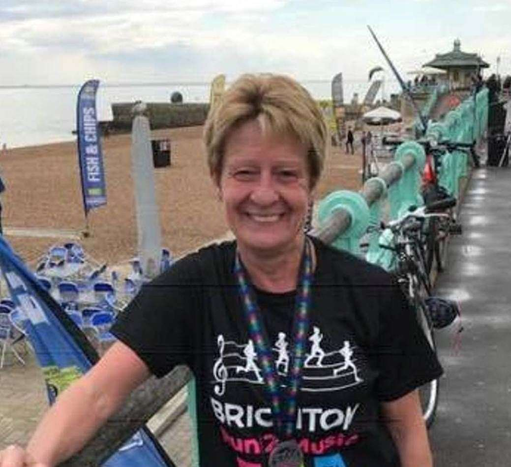 Gill O'Connor of Ashford and District Road Running Club