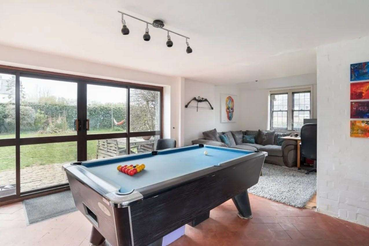 The house includes a games room. Picture: Zoopla / Strutt & Parker
