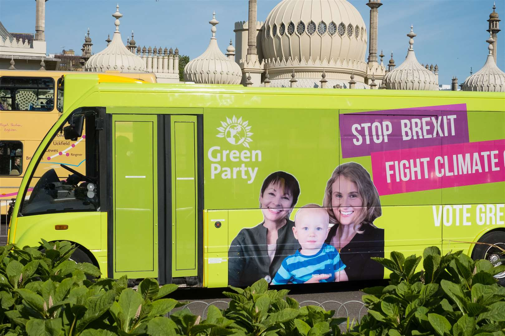 The Stop Brexit Bus launched in Brighton as part of the Green Party's campaign for the European elections. Picture: JJ Waller (10826457)