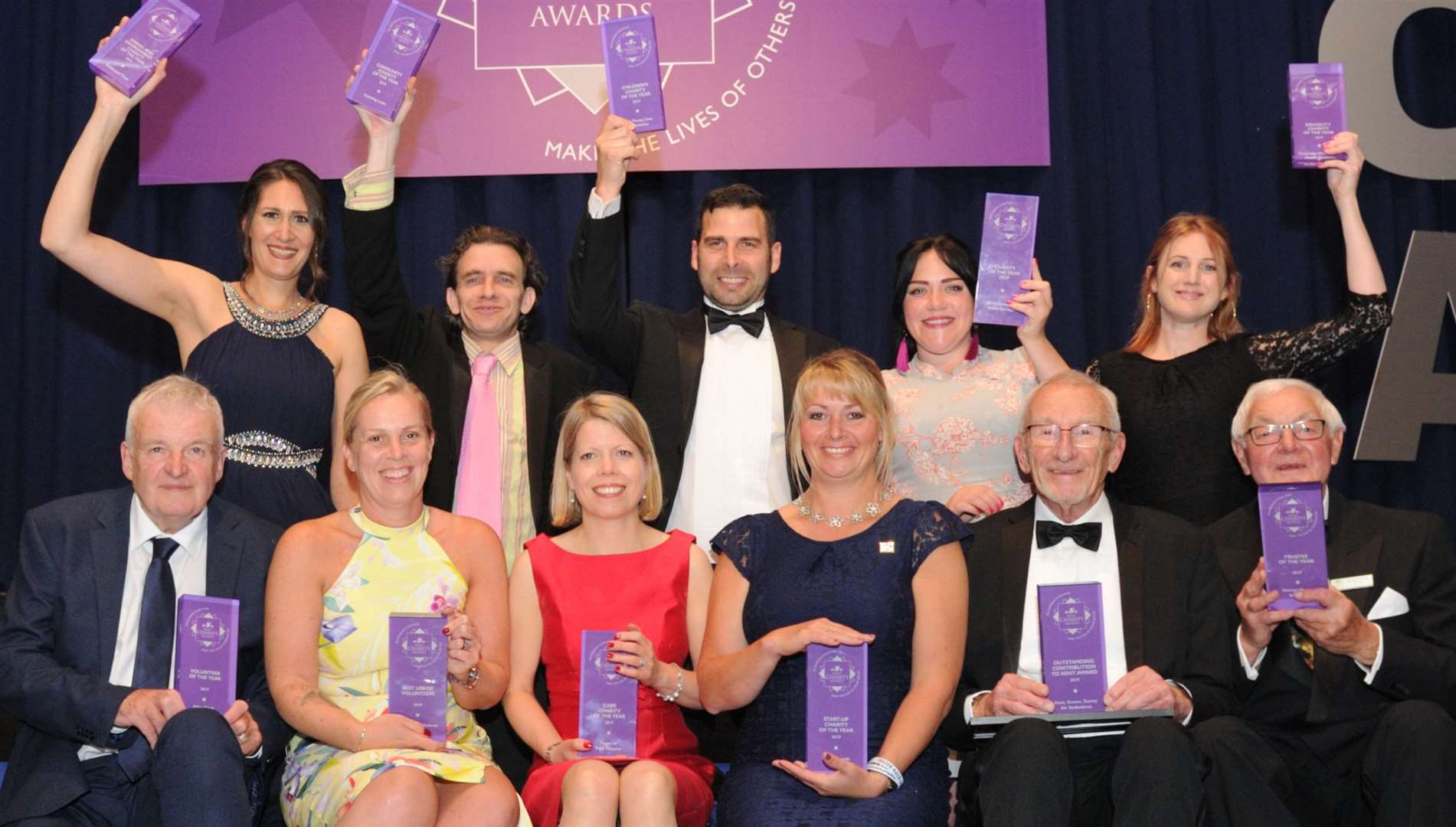 Last year's winners at the gala evening for finalists. Picture: Simon Hildrew
