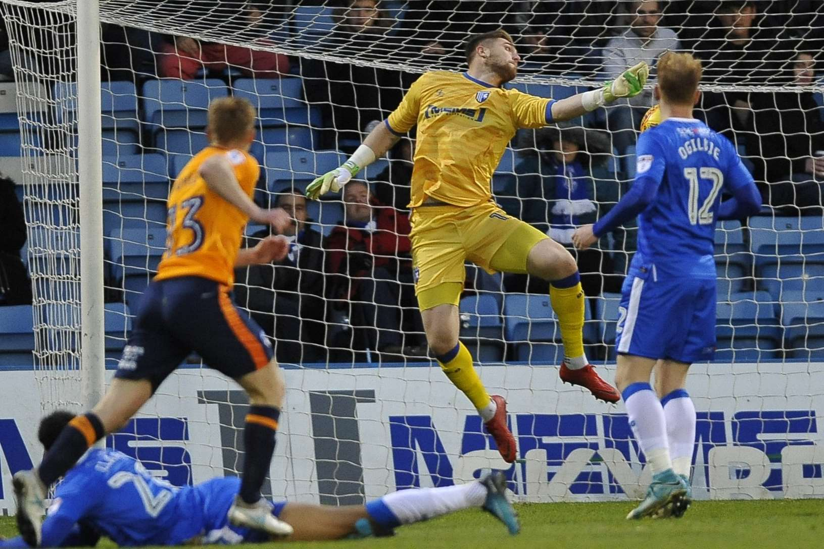 Tomas Holy stretches out to deny the Latics Picture: Ady Kerry