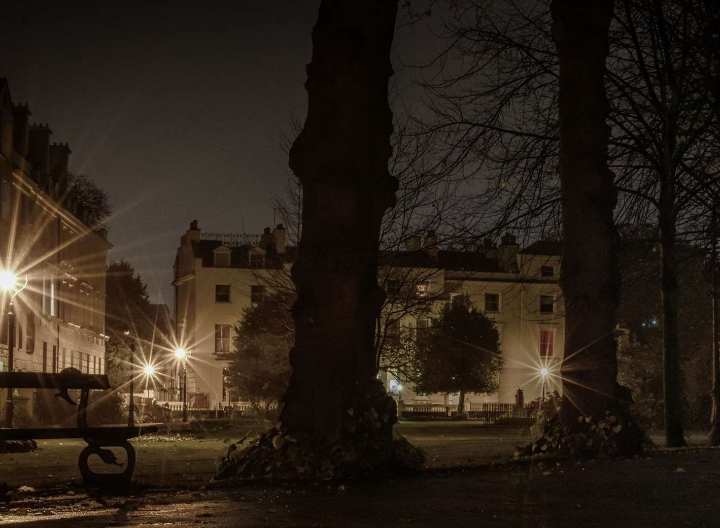 The Dane John Gardens at night. Picture: John Hippisley Photography.