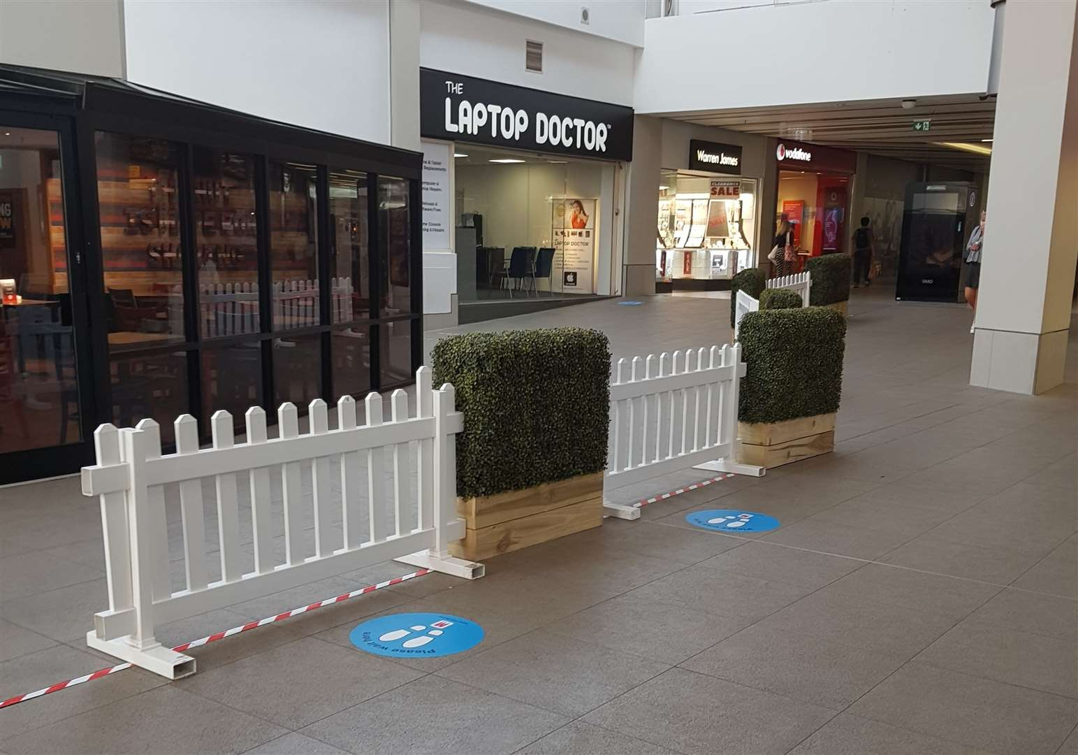A one way system is in place in The Mall