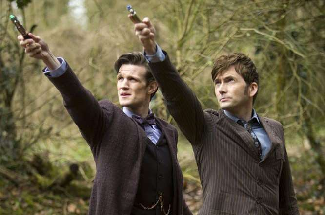 Matt Smith and David Tennant in the Day of the Doctor episode