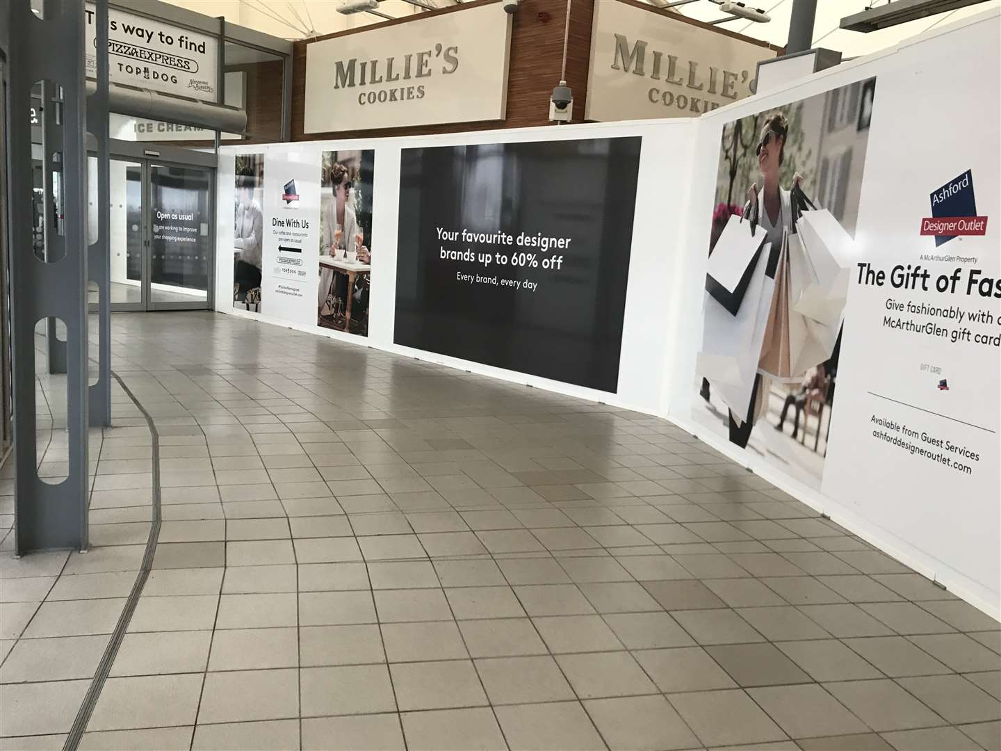 The Outlet's former food court is now closed as work begins on the extension