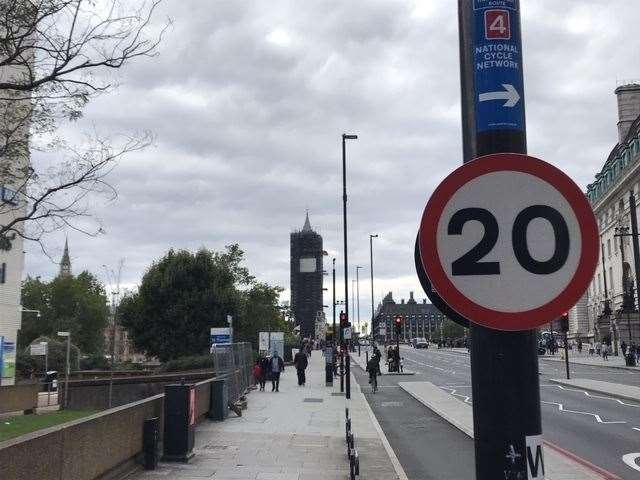 There is a 20mph limit over Westminster Bridge in London as you approach the Houses of Parliament