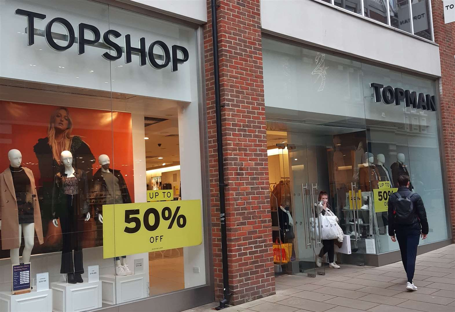 Topshop and Topman in Whitefriars are at risk after Arcadia's collapse into administration