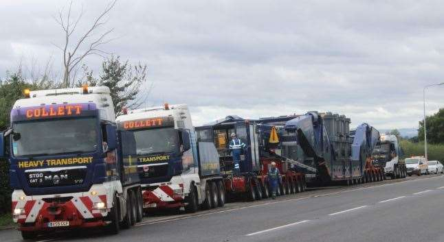 The type of abnormal load set to travel through Kent. Picture: Collett