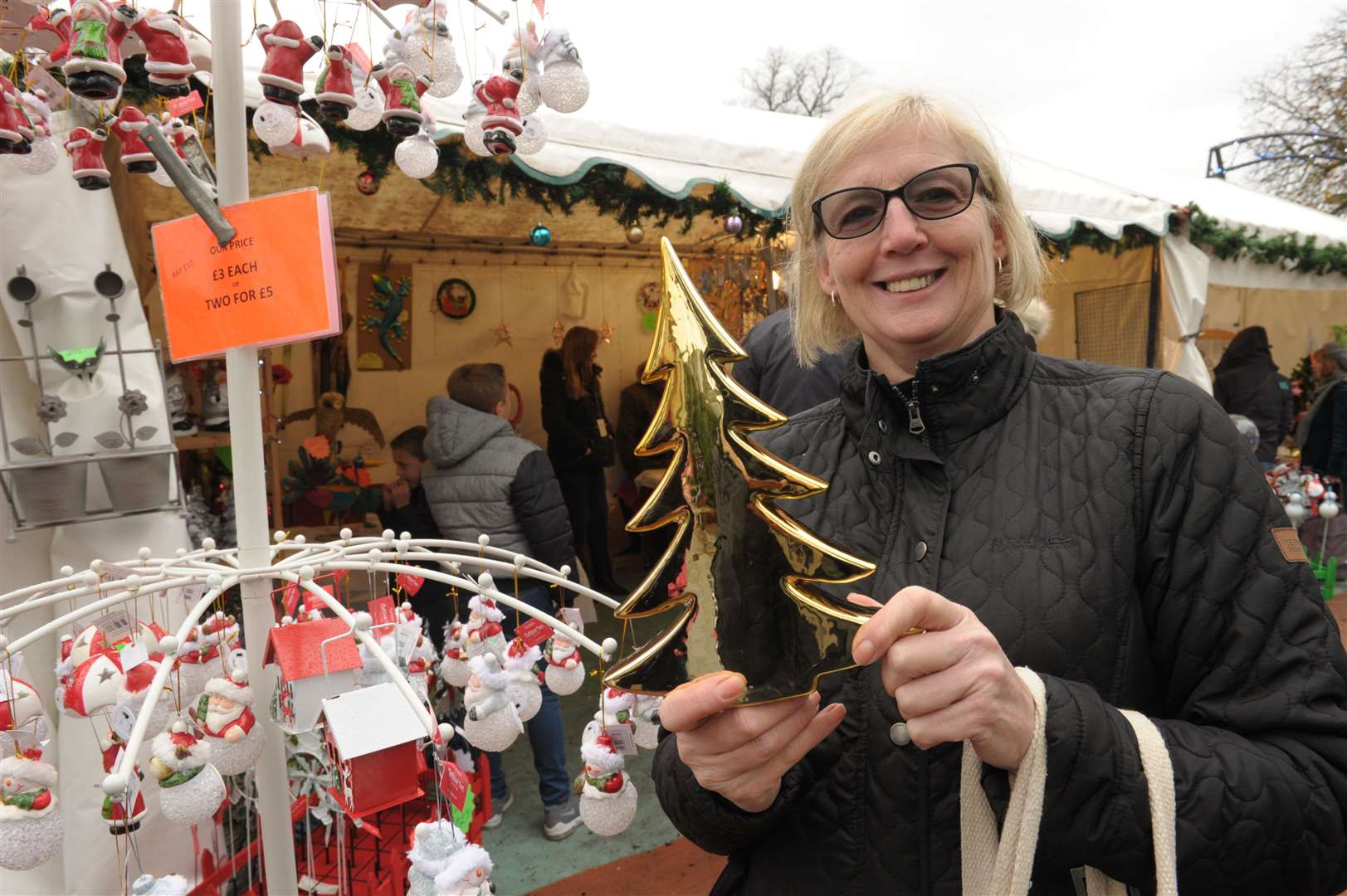 Rochester Castle Gardens will have a Christmas market and festive fairground