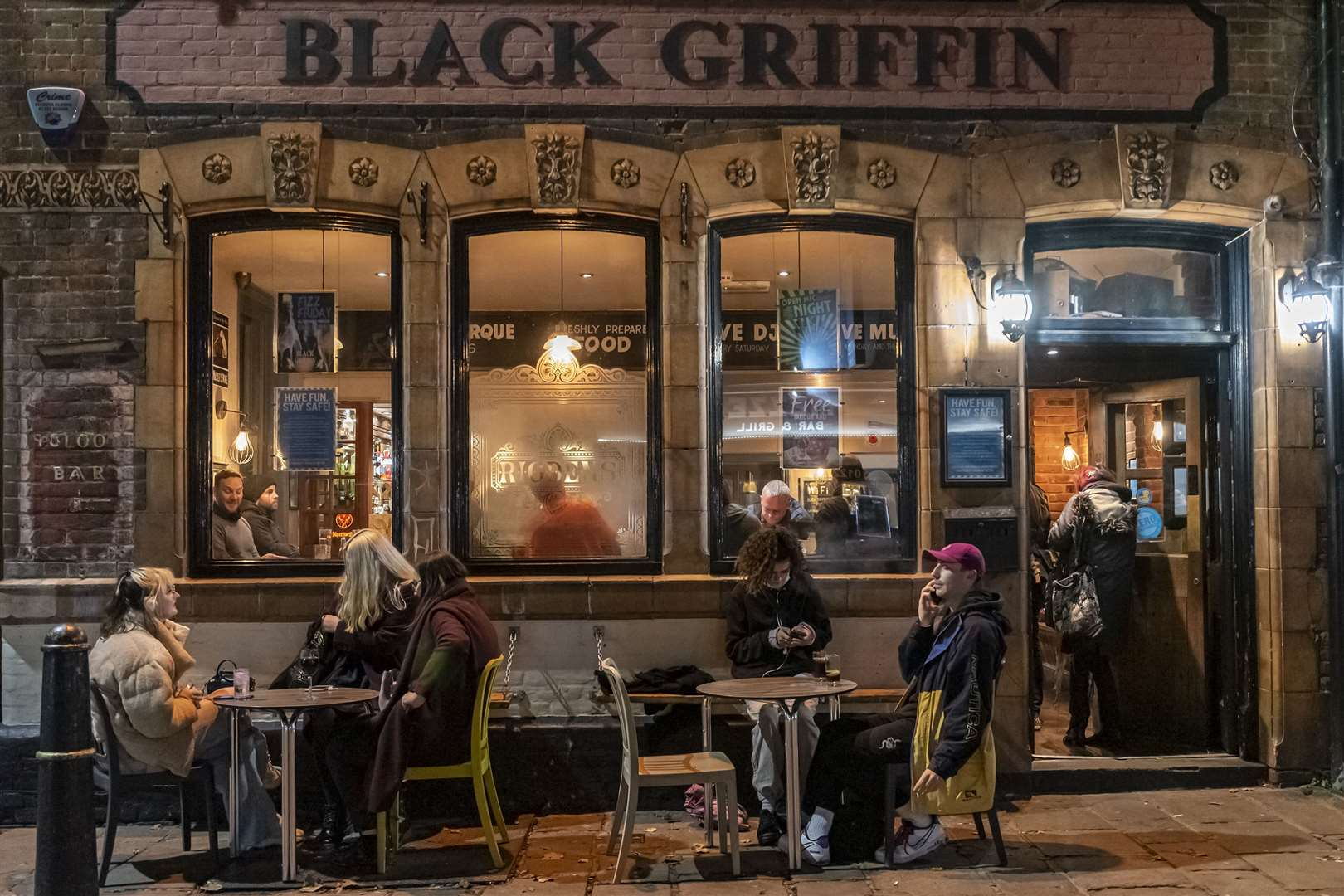 It was busy at the Black Griffin too. Pictures: Jo Court