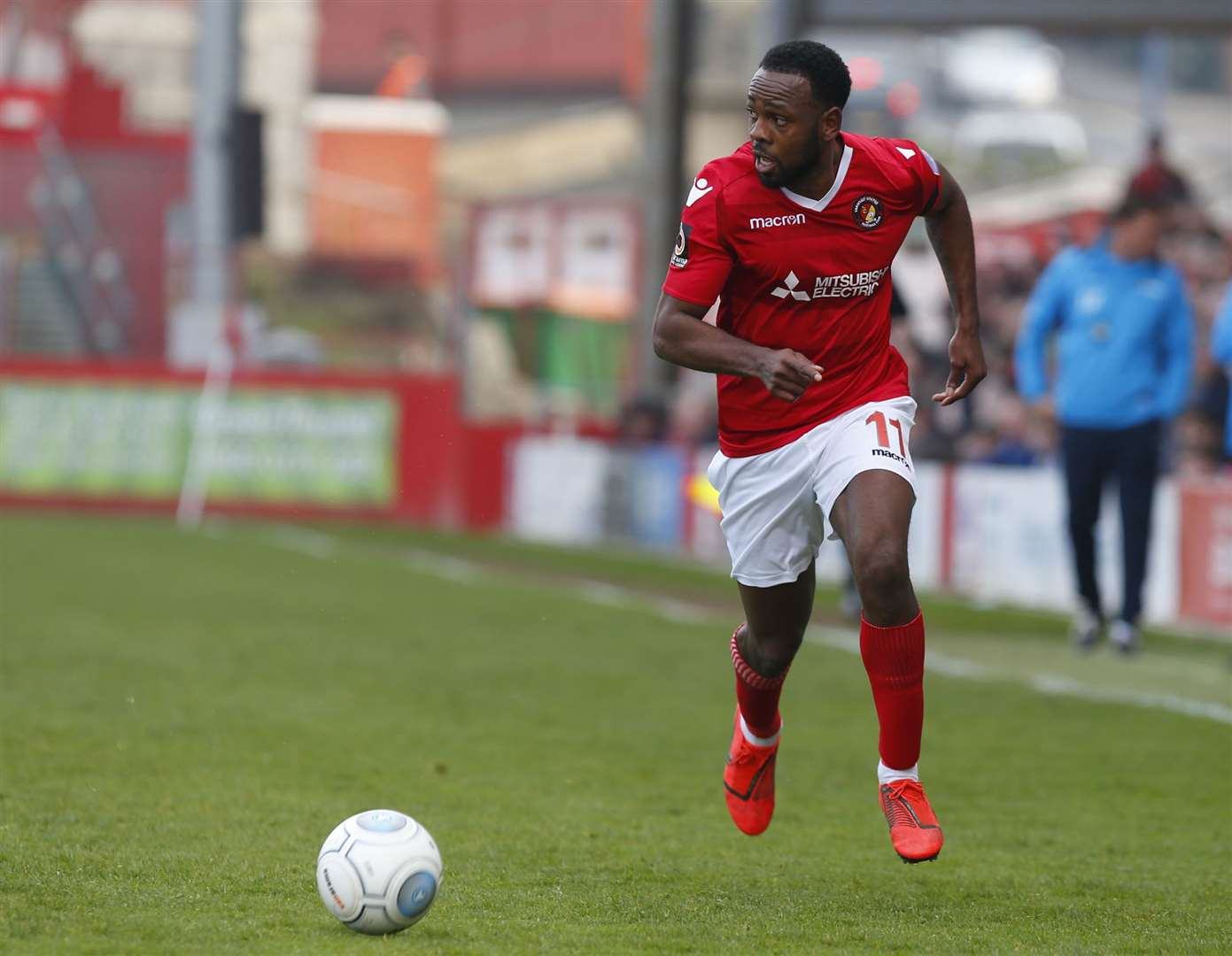 Myles Weston in action for Ebbsfleet United Picture: Andy Jones