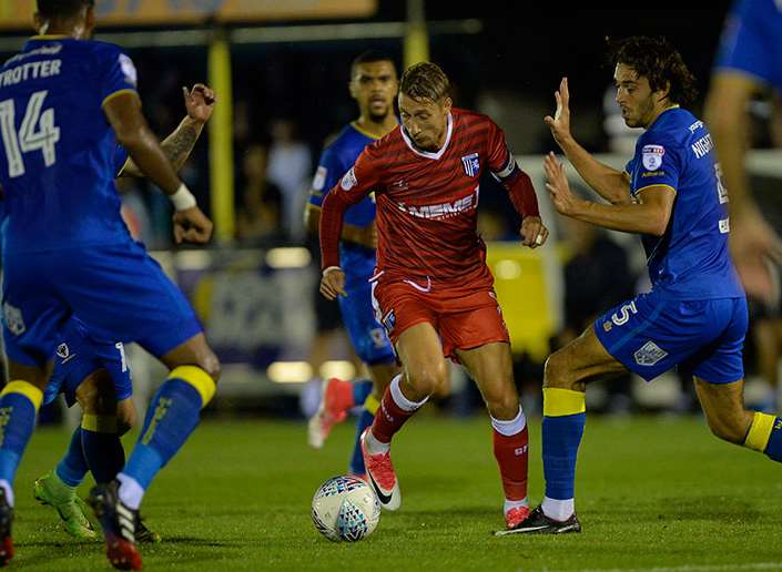 Lee Martin in action for Gillingham Picture: Ady Kerry