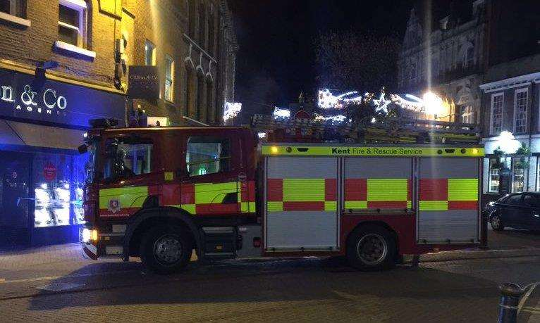 Six fire crews were called. Picture: Phillip Marvell