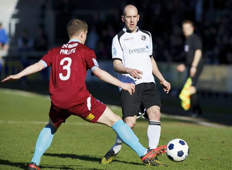 Adam Green in action against Nuneaton during the 2012/13 season Picture: Andy Payton