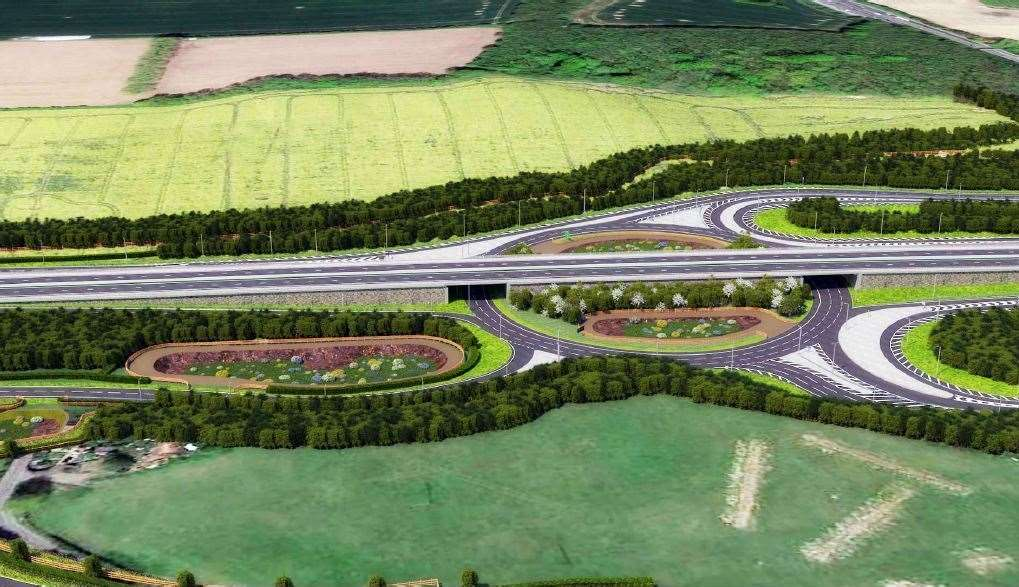 How the new Stockbury Roundabout could look from Oad Street (12303661)