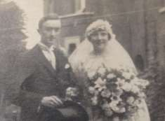 Vera and Douglas on their wedding day in 1924