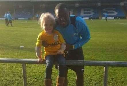 Ellie May with former Dover player Nortei Nortey last season (17216808)