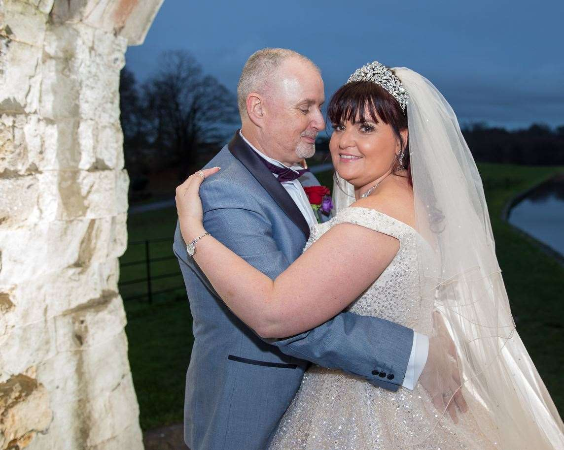 Sally and Trevor Gardiner, from Gravesend, were married just four months before he died of Covid-19. Picture: Robert Buckley, RB Photography