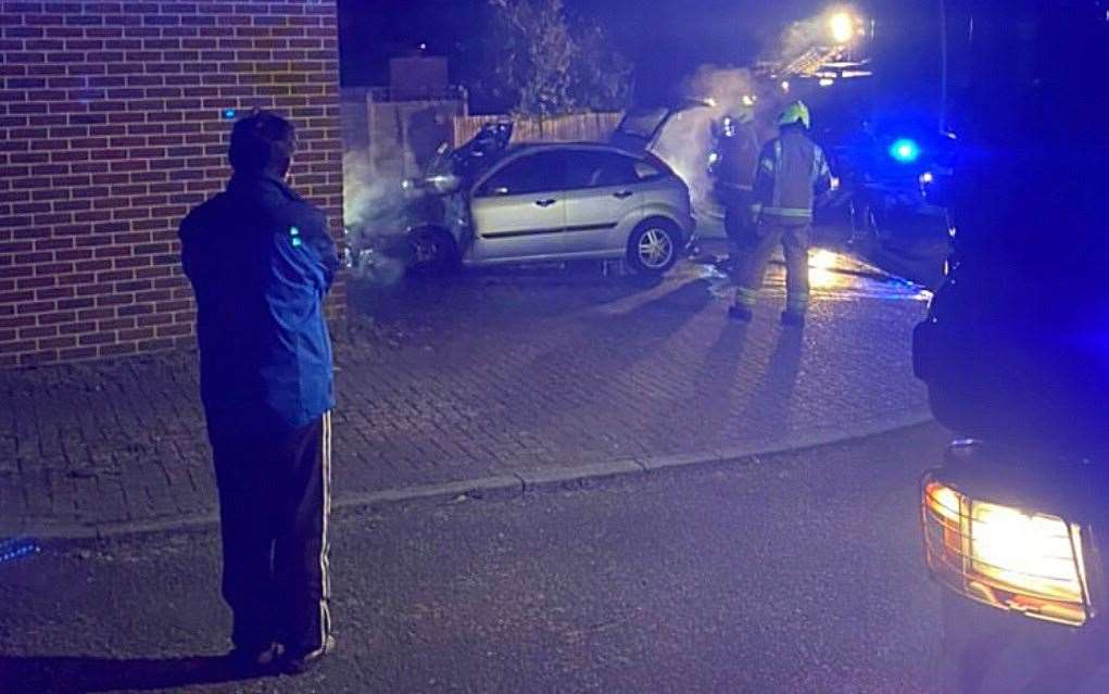 Police are treating the two vehicle fires which happened in the Barming area of Maidstone as suspicious