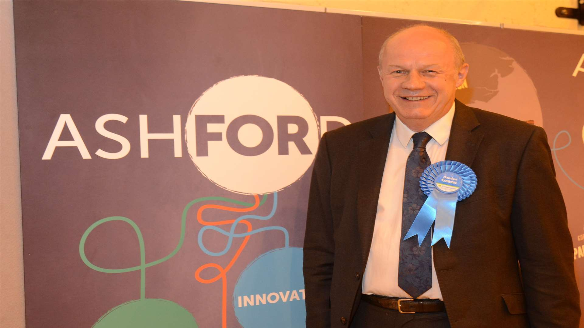 The re-elected Tory MP said he was 'grateful' to voters
