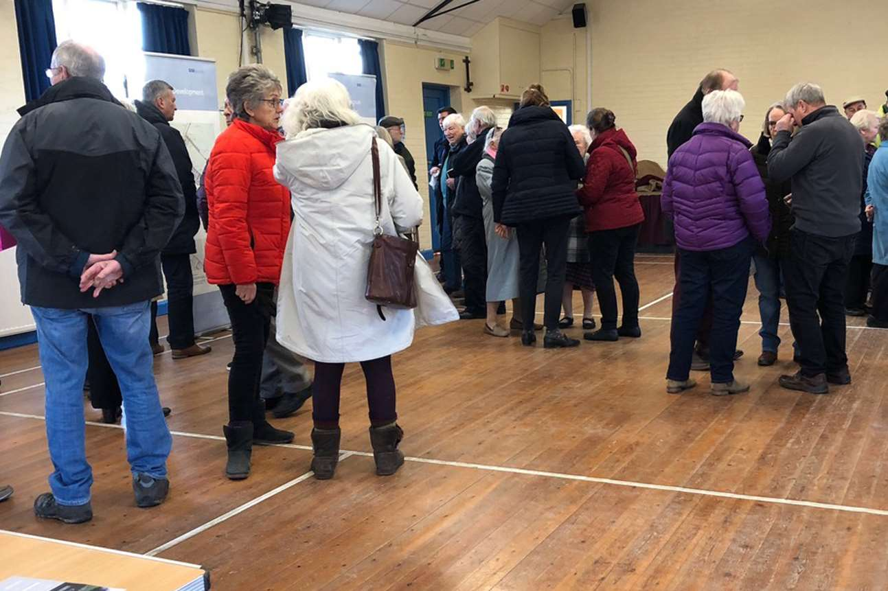 The public exhibition on the plans for 28 houses in Nonington